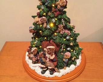 Boyds Bears Christmas Tree by Danbury Mint