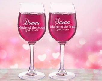 Mother-of-the-Bride gift Mother of the Bride Glass Mother-of-the-Groom Gift Wedding Gift for Mom Mother-in-Law Gift from Bride from Groom