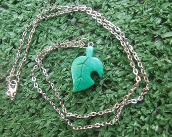 Animal Crossing Leaf Necklace Game Pendant Gamer Jewelry