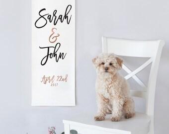 Canvas Wedding Banner Sign, Wedding Welcome Banner, Wedding Sign, Canvas Wedding Banner