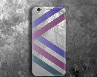 Grey purple stripes case for iPhone 6 Case for iPhone 6s Case rubber for iPhone 6 Plus Gift for men Case for Galaxy S8 Plus Case elastic