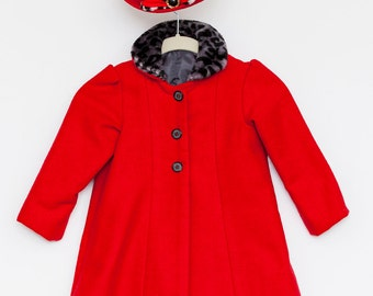 1950's Inspired Girls Coat and Hat