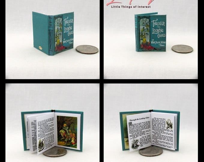 THROUGH The LOOKING GLASS Book 1:6 Scale Color Illustrated Lewis Carroll Alice Barbie Accessory Bjd