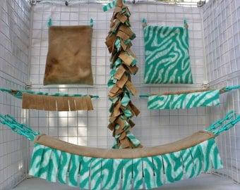 Life's a Beach Custom Sugar Glider Cage Set