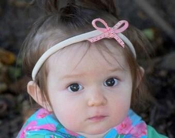 Baby Pink Bow, Toddler Headband, Hair Bows, Bow Headbands, Pink Headband, Bow Headband Pink, Baby Girl Headband, Bow Headband