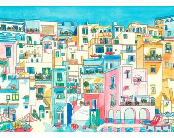Procida Print: Procida, Bay of Naples, Italy.