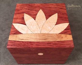 Waterlily Quilt Block Keepsake Box
