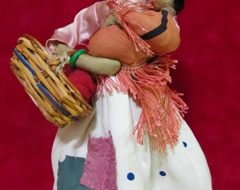 Antique Vintage  Cloth Doll And Child Garber Made In Spain