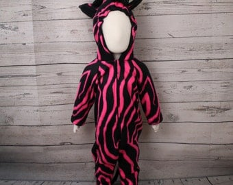 Hot Pink Zebra Costume Size 12M