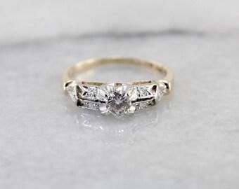 Beautiful 1940's Diamond Engagement Ring UATCTQ-N