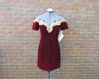 90's Rampage size 7 burgundy dress-still has tags