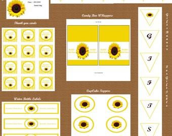 Sunflower Bridal Shower Decoration Package