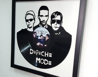 Depeche Mode Vinyl Wall Art -Vinyl LP Record Clock or Framed Vinyl-Great Depeche Mode Gift ,Vinyl Wall Clock,Wall records clock