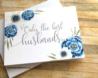 Pregnancy Reveal to Husband Card - Pregnancy Announcement to Husband Boyfriend - New Daddy Card - Having a Baby - I'm Prego Card - INDIGO