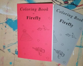 Firefly Coloring Book, TV Art Zine, Illustrative