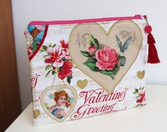 Valentines Day Organizer Pencil Case Gift Card Bag