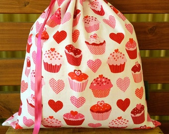 Childrens Library Bag - Cupcakes