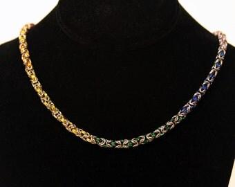 Pride Collection - Rainbow Pride Byzantine Necklace