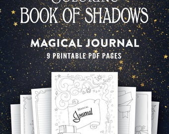 Magical Journal: Printable Coloring Book of Shadows Pages