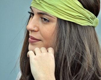 Silk Headband, Lime Headband, Green Headband, Head Wrap, Wedding Headbands, Wide Headband, Womens Turban, Turban Headband, Womens Headband