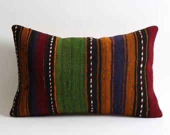 12x18 striped kilim pillow cover modern home decor