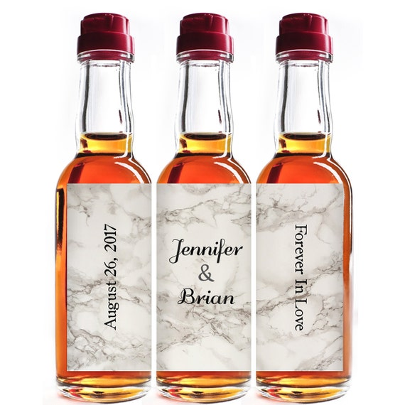 Custom Liquor Mini Bottle Favors - Personalized Labels - Wedding ...