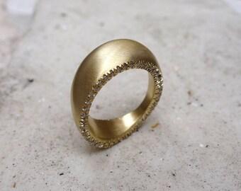 WEDDING RING UNIQUE Jewelry Engagement ring Full eternty Anniversary rings Bridal Staetment Friendship Designers Geometric 18k yellow gold