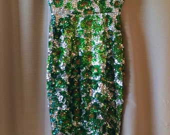 1940s Fully Sequined Gown