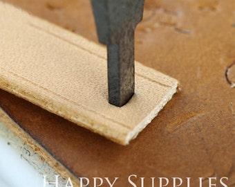 Flat Short Punch 3mm/4mm/5mm/10mm, Cutter for Leather Crafts, DIY Craft Tools, Leather Craft Tools (LT005)