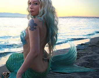 20 x 16 Mermaid Poster Print, signed (Portrait)