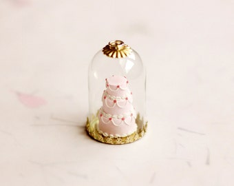 Miniature Cake Pendant, Miniature Food Jewelry