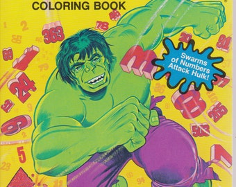 Vintage The Incredible Hulk coloring book - The dot-dot-connection