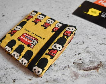 Porta tessere *BRITISH PANDA* / card holder / business card / credit card