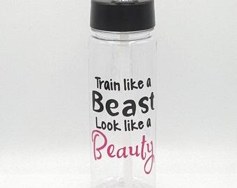 Gym Bottle, Custom Water Bottle, Personalized Water Bottle, Motivational Water Bottle, Custom Sports Bottle, Workout Bottle, Crossfit