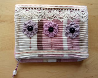 Flower Clutch Bag in pastel colours.