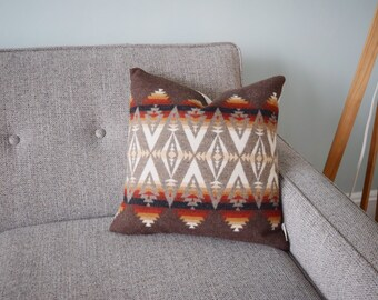 Western Wool Pillow Cover Tribal Inspired Pillow