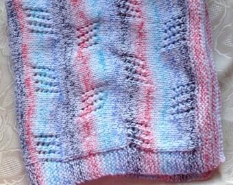 Baby Aran Blanket Multi Coloured