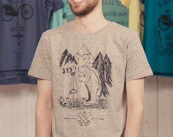 Bärnd Blitzbert - men - bio fair wear T-Shirt - Heather clay