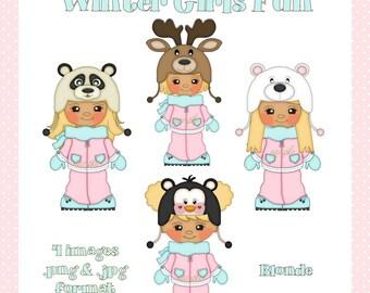 Winter Girls Fun Blonde
