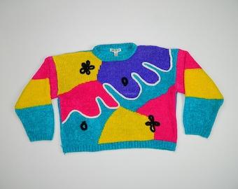 Vintage Colorblock Sweater...