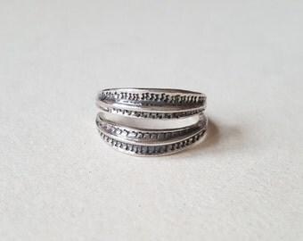 Vintage Viking Sterling Silver Ring, Bengt Hallberg, Sweden (F798)