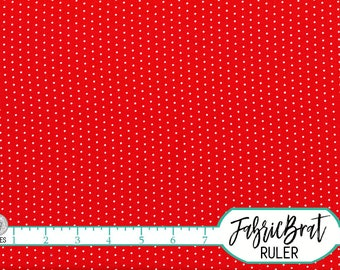 RED & WHITE Tiny DOT Fabric by the Yard Fat Quarter White Dot on Red Fabric Mini Polka Dot Fabric Quilting Fabric 100% Cotton Fabric w5-28