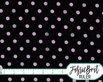 PINK & BLACK Fabric by the Yard, Fat Quarter GLITTER Fabric Paris Dot Fabric 100% Cotton Fabric Quilting Fabric Apparel Fabric a1-10