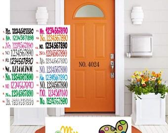 House Vinyl Address Number Decal, Mailbox Address Decal, Address Sign, Frontdoor Address Numbers