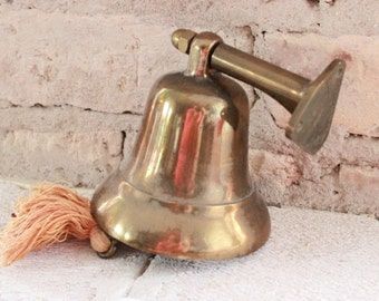 Vintage ship's bell, brass bell, heavy