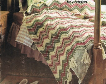 Afghan Crochet Patterns - Vintage Afghan Patterns - Decorator Throws To Crochet - Patons #599