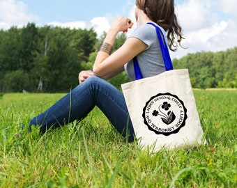 "Feminist Tote Bag: ""Sewing Circle"" Tote from Fourth Wave Feminist Apparel. Great gift! We stand with Elizabeth Warren!"