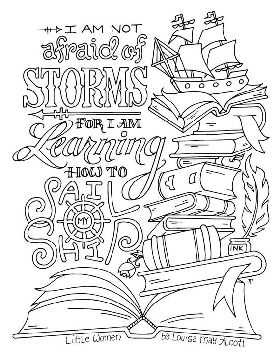 Little Women Coloring Page Louisa