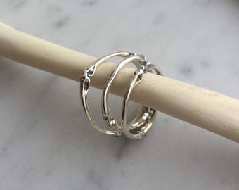Squirrel Toe Bones Ring, Sterling silver, Kaya Tinsman,