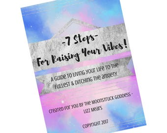 Coping With Anxiety and Overwhelm Anxiety Aid Help Support Book 7 Steps To Raising Your Vibes OCD Depression Bipolar Stress